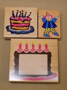 Awe Inspiring Rubber Stampede Stamp Birthday Cake Frame Large Clown All Night Funny Birthday Cards Online Inifodamsfinfo