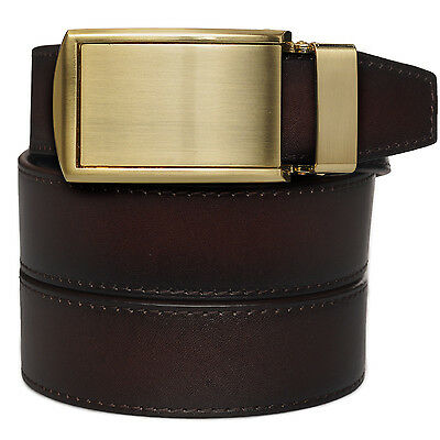 SlideBelts Factory Second Mahogany Full-Grain Premium Men's Leather Ratchet Belt