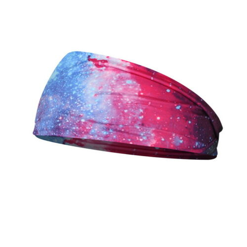 US Women Wide Sport Yoga Headband Wrap Hairband Elastic Turban Hair Stretch Band