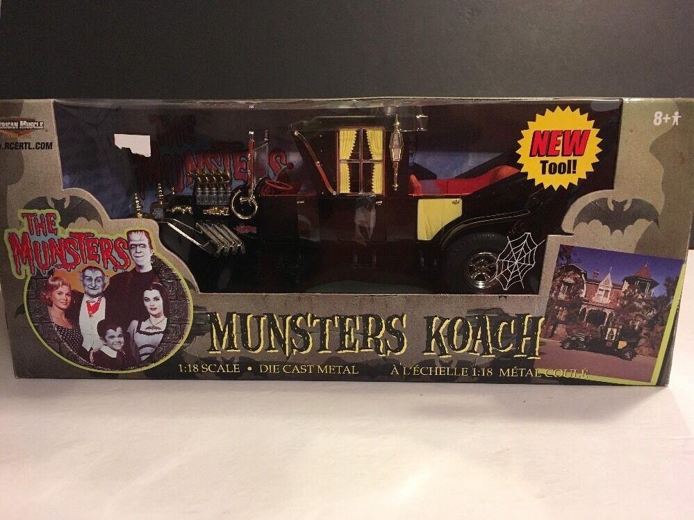 1 18 ertl american muscle The Munsters TV Show Munster Koach Noir