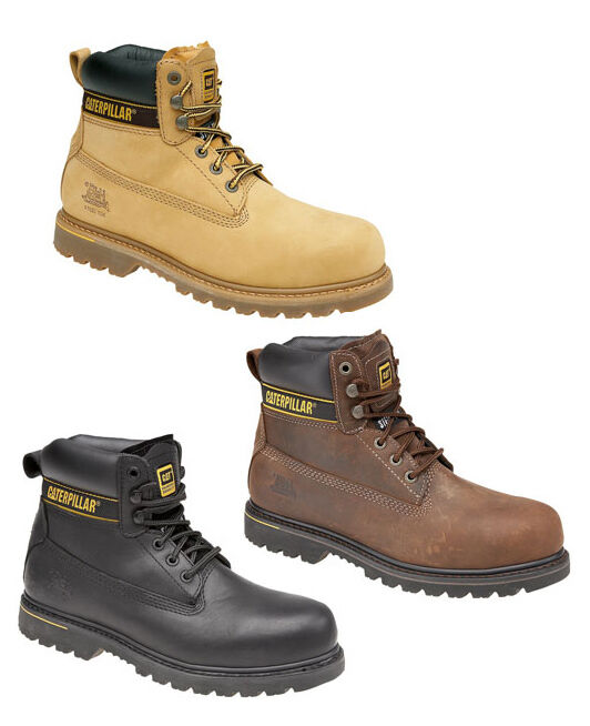 CAT Caterpillar Holton acciaio puntale di sicurezza da uomo in pelle Work Boots uk6-15