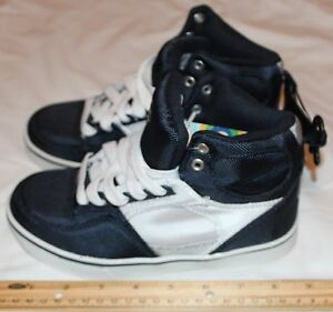 Op-Boys-Youth-Athlethics-Size-2y-Navy-Blue-White-Silver-High-tops-Item