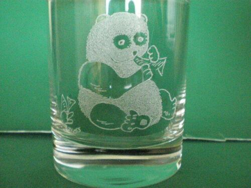 Name FREE Personalised Gifts Freehand Engraved Glass Tumbler Wildlife Panda