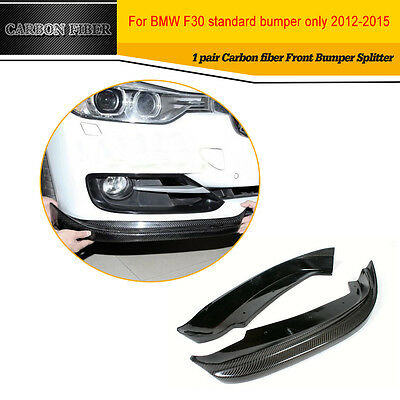 Carbon Fiber F30 Front Lip Splitters Flaps For BMW F30 320i 358i 335i 2012-2015
