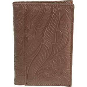 Details about Brown Genuine Leather Embossed US PASSPORT COVER Organizer  New  FREE Shipping