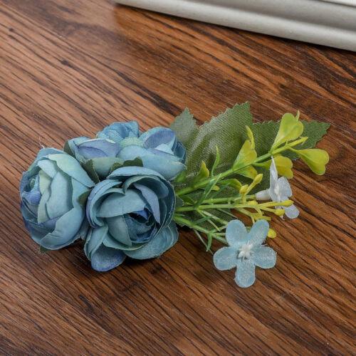Rose Flower Hair Pin Clip Pin Hairband Brooch Bridal Wedding Party  Women Bride