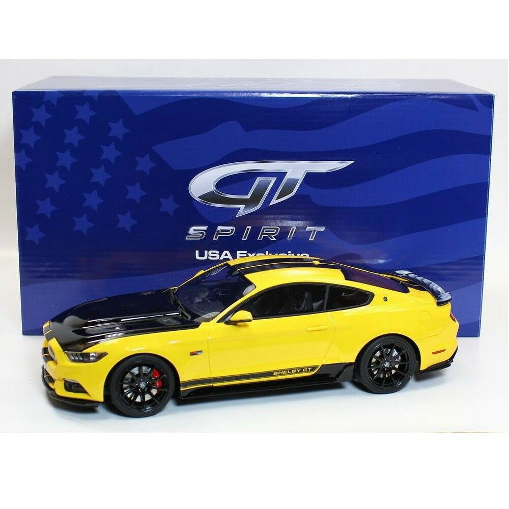 GT SPIRIT 1 18 Ford Mustang Shelby GT Yellow 2015 SCALE RESIN US002