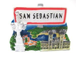 San Sebastian Aimant Souvenir Espagne Espana Spain 7 Cm New!!!-afficher Le Titre D'origine