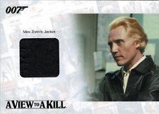 James Bond Archives 2014 JBR33 Relic Costume Card Christopher Walken 210 of 400