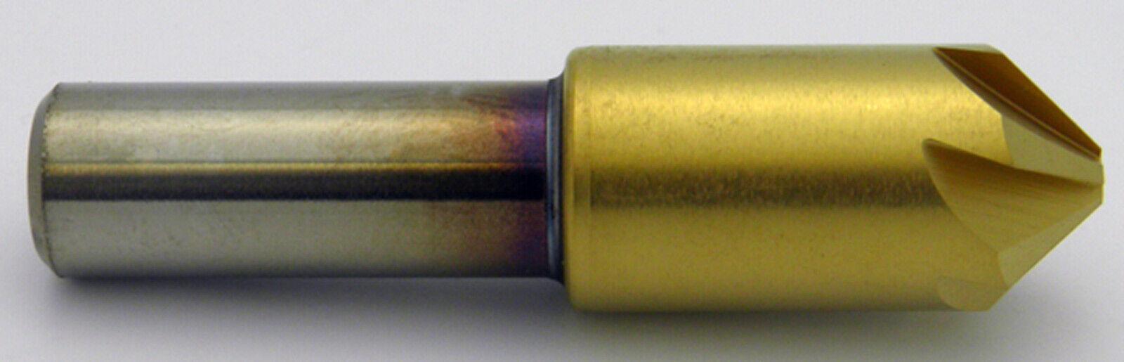 "3//8/"" 82° Degree 6 Flute Cobalt TiN Coated Countersink Melin USA #18207"
