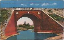 Poland, Wloclawek, Railway Bridge and View of the Temple, Old Postcard