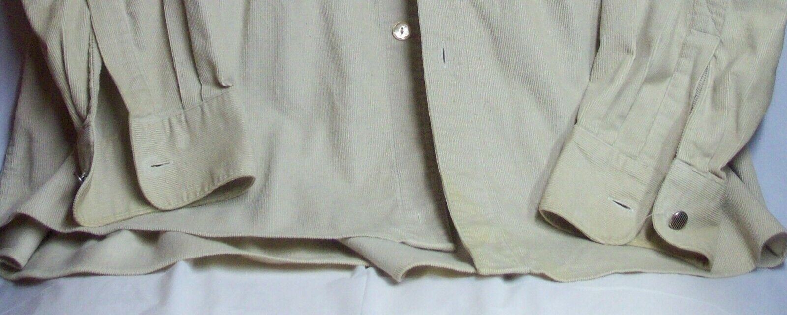 Vintage Mens Western Cotton Corduroy Overshirt XL… - image 9