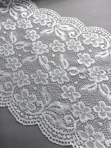 1m Vintage Suave Encaje Elástico 20cm Ancho Bridal Vestido cinturón Hueso De Marfil De Coser