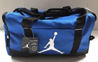 e2abad072ab8c1 Nike Air Jordan Jumpman Mens Duffle Gym Bag Blue Water Resistant