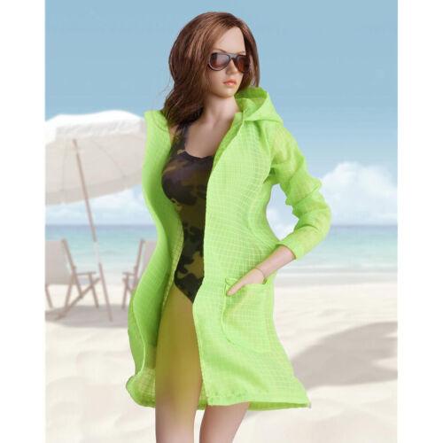 1//6 Einteiliger Badeanzug /& Kapuzenmantel Outfit für 12/'/' Weibliche Action