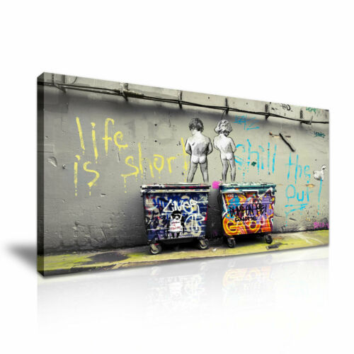 Banksy Life is Short Chill the Duck Out Stretched Canvas ~ More Size
