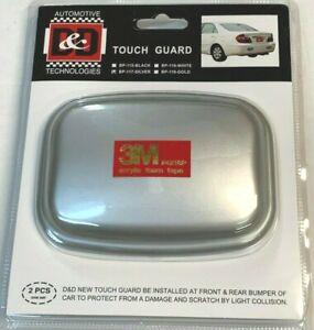 4 PCS BLACK FRONT REAR FEEL BUMPER GUARD SCRATCH CORNER PROTECTOR MOLDING K008