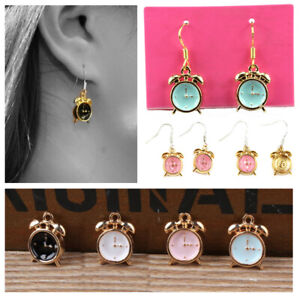 10PCS-Enamel-Alarm-Clock-Charm-Pendant-For-DIY-Bracelet-Necklace-Earring-Making