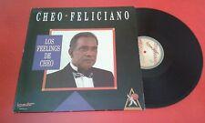 "Latin Salsa CHEO FELICIANO ""Los Feelings de Cheo"" 1990 SPAIN LP ON BAT LABEL"