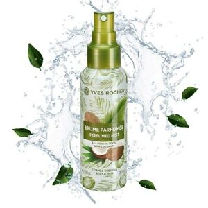 Yves Rocher Perfumed Mist Coconut Sensual Perfumed Body Hair Vegan Recyclable