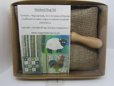 Hooked Rag Rug Kit - Rugging Recycling
