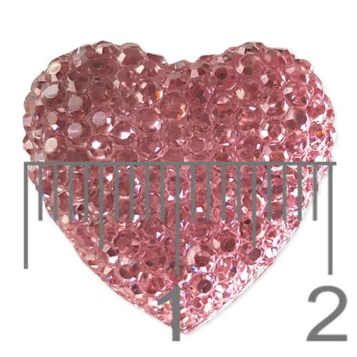 10 un Flatback Cabochon Gemas día de San Valentín Corazón Artesanía Adornos Scrapbooking
