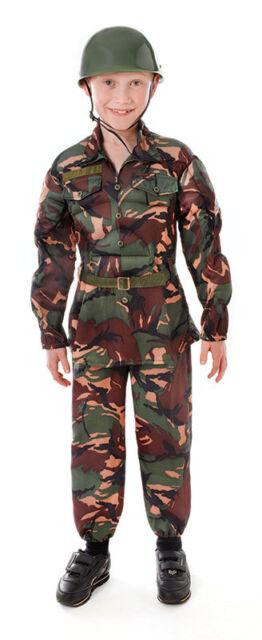 BOYS KIDS ARMY SOLDIER COSTUME MILITARY UNIFORM u0026 HAT FANCY DRESS OUTFIT ...  sc 1 st  eBay & Medium Camouflage Boys Soldier Costume - Fancy Dress Army Outfit ...