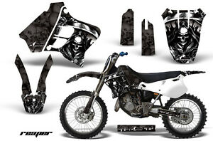 Dirt-Bike-Graphic-Kit-Decal-Sticker-Wrap-For-Yamaha-YZ125-YZ250-93-95-REAPER-BLK