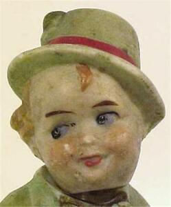 Antique-Little-Boy-Nodder-Doll-Germany-All-Bisque-Chubby-amp-Adorable