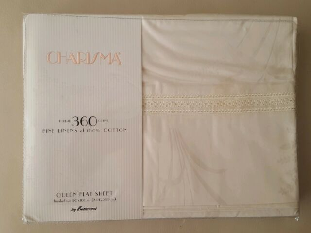 Fieldcrest Charisma 360 Count Extra Large Full Fitted Sheet New VTG Luxury Linen