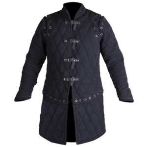 Medieval /& Renaissance Viking Black Color Gambeson For Armor Reenactment
