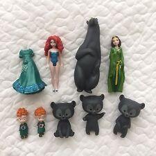 Disney Princess MagiClip Merida Brave Doll Mother Bear Brothers Lot Polly Pocket