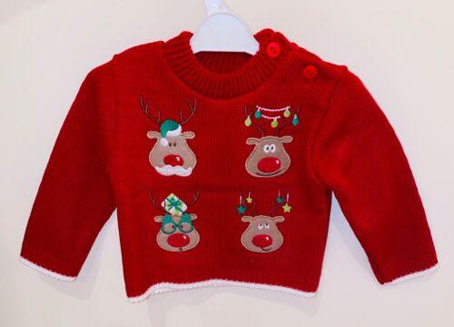 Cute Baby Girl//Boy Kids Xmas Christmas jumper 0-9 Months