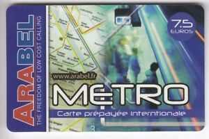 FRANCE-TELECARTE-PHONECARD-PREPAYEE-7-50-ARABEL-TRAIN-METRO-RATP-N