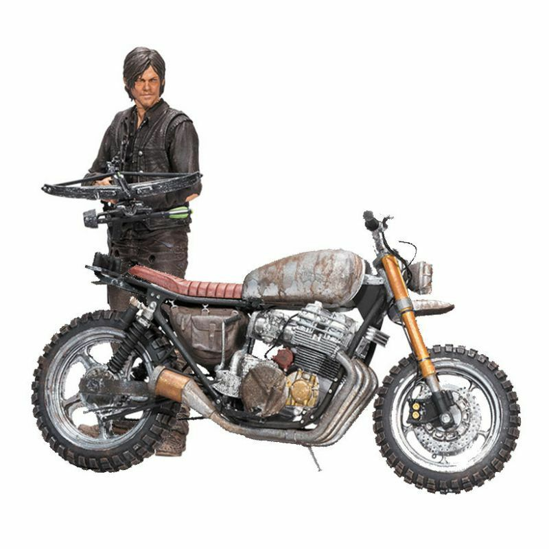 THE WALKING DEAD DARYL DIXON DIXON DIXON ACTION FIGURE & MOTORCYCLE DELUXE VERSION 2 BOX SET a0a5d1