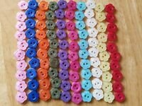 50 or 100 Baby/Children's Flower Buttons 14 mm Red Blue Green Purple Pink White
