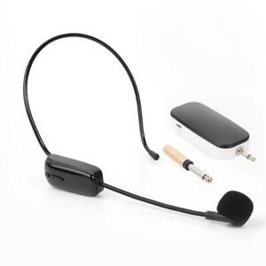 UHF-Wireless-Headset-Mikrofon-FM-Empfaenger-Funkmikrofon-Studio-Speaker-Handsfree