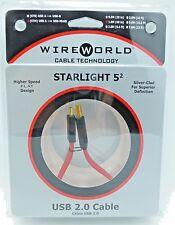 WireWorld StarLight 5.2 USB 1 meter USB A - USB miniB Wire World