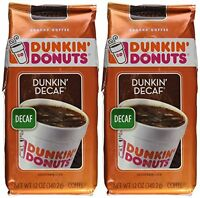 Dunkin Donuts Ground Coffee - Net Wt 12 Oz (pack Of 2) (dunkin Decaf), New, Free on sale