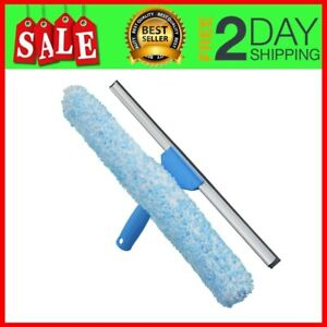 Unger Professional Microfiber Window Combi 14 2-in-1 Professional Squeegee and Window Scrubber