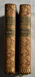 1780 Œuvres complètes de Gessner Tomes 1 et Tome 3 BE rel cuir gravures