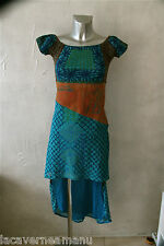 exceptionnelle robe superposée turquoise SAVE THE QUEEN taille M   ÉTAT NEUF