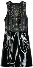 CHRISTOPHER KANE Black Jewelled Leather Dress