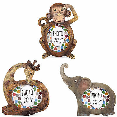 Cute Mini Resin Wildlife Animal Photo Picture Frame - Monkey Elephant Giraffe