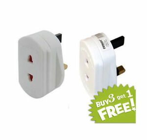 2-Pin-to-3-Pin-Electric-Shaver-Plug-Adaptor-For-Bathroom-White-Adaptor