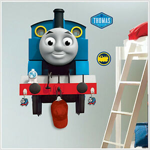 thomas the tank engine wall stickers with hooks mural train 22 034 by. Black Bedroom Furniture Sets. Home Design Ideas