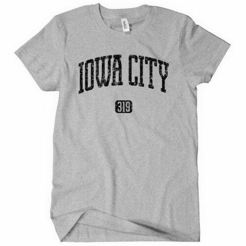 Area Code 319 IOWA CITY 319 Women/'s T-shirt Johnson Hawkeyes Iowa S-2XL