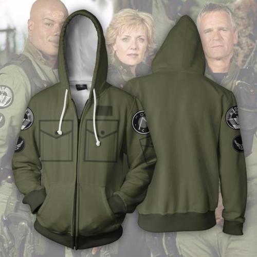 Stargate SG1 3D Printed Hoodie Clothing Zipper Sweatshirt Coat Jacket Christmas
