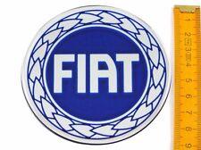 FIAT★ 4 Stück ★ SILIKON Ø90mm BLAU Aufkleber Emblem Felgenaufkleber Radkappen