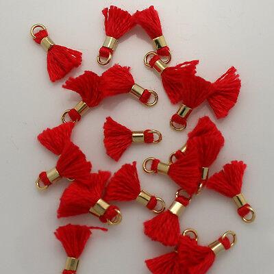 """0.4"""" Mini Tassels Jewelry making supplies Embellishments Applique Tassel Trim"""